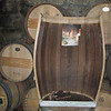 Del Dotto Tour.  Inside of a wine barrel.  It's been toasted and grooved.