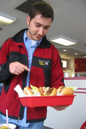 Ben enjoys In and Out Burger