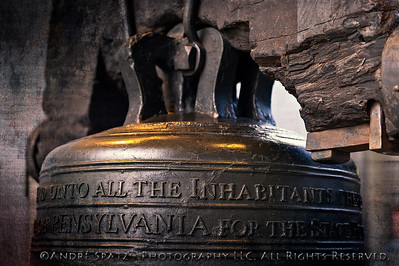 The Liberty Bell in Philadelphia.