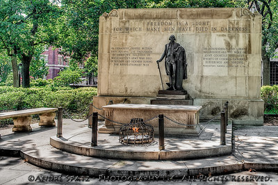 The Tomb of the Unknown Soldier in Philadelphia's Washington Square