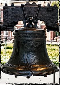 The Liberty Bell in Philadelphia.