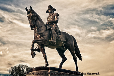 Boston Common, George Washington. Sculpted by Thomas Ball in 1869.