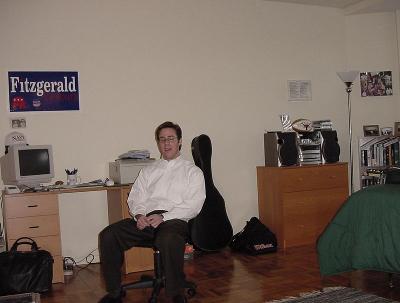 Brian Stoller, in his room in Washington, DC.  Hey Brian, open your eyes!