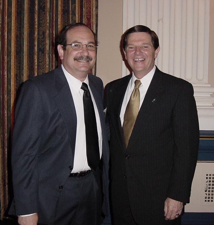 Me and Congressman Tom Delay (r) Sugar Land, TX