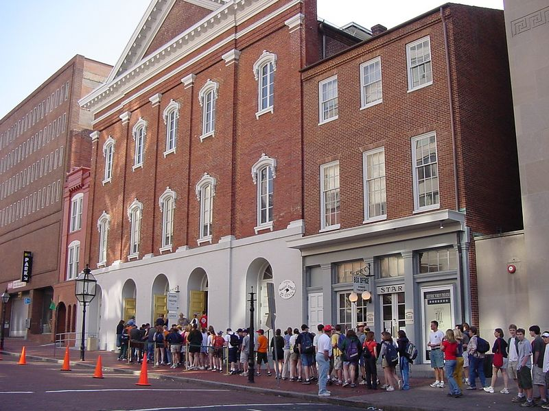 Ford's Theatre.  This is where President Abraham Lincoln was assinated by John Wilks Booth.