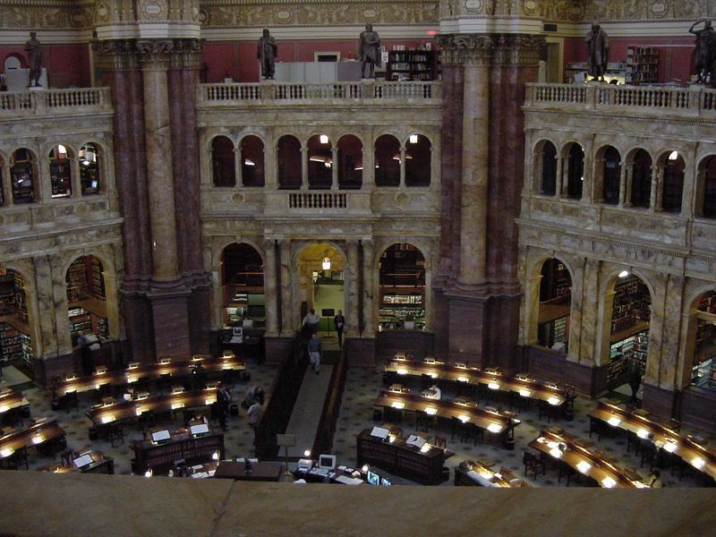 Inside the Library of Congress.