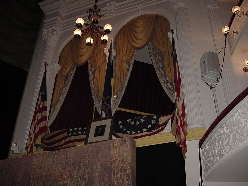 President Lincoln's box at Ford's Theater.