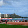Waikiki Beach, Honolulu Hawaii. Taken from the beautiful Royal Hawaiian.