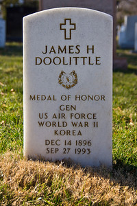 James Doolittle : he led the raid to Japan after the Pearl Harbour attack.