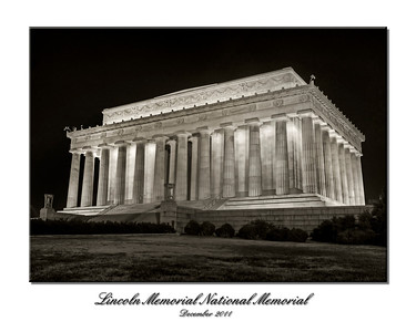 Lincoln Memorial HDR BW