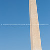 Washington Monument tall obelisk in National Mall Washington DC commorating George Washington.