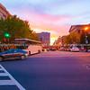 Sunsets over Washington DC.