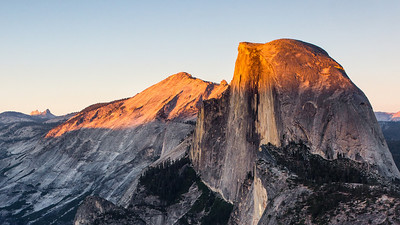 Half dome sunset at Glacier point