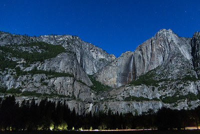 Yosemite, Falls, night