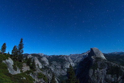 Halfdome-Tenaya Valley Night
