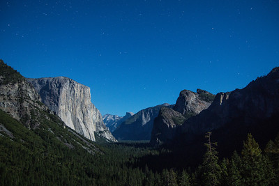 Yosemite Valley Tunnel View Night