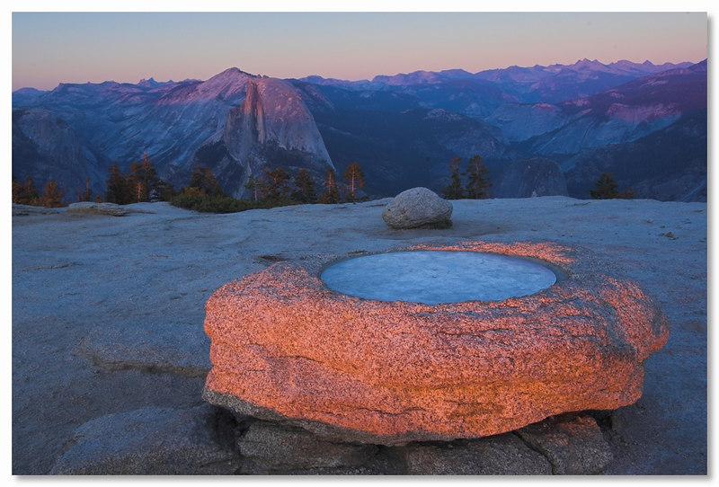 Sunset from Sentinel Dome, Yosemite September 2006.