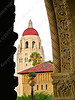 USA - CA - Bay Area - Palo Alto - Stanford - Memorial Quadrangle - Hoover Tower from arch