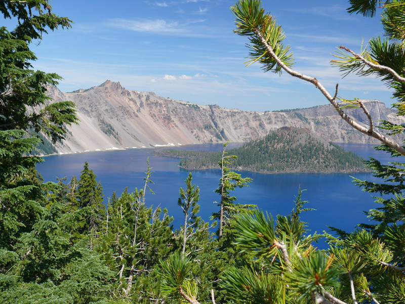 Crater Lake, OR deepest lake in US.