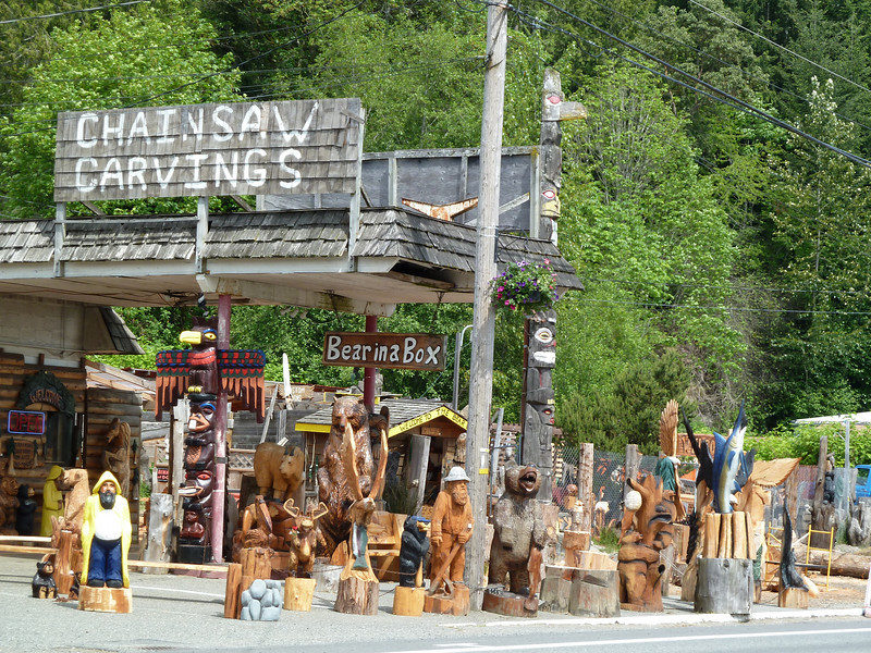 Chainsaw Carvings shop in Allyn, WA. They even offer lessons - if you can afford $1500 for 3 days.