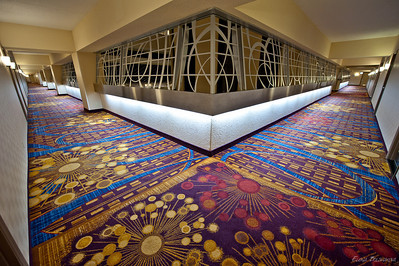 холл из номера отеля Hotel Marriott Marquis Times Square на 28 этаже