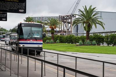 место посадки на автобусный тур к стартовым площадкам