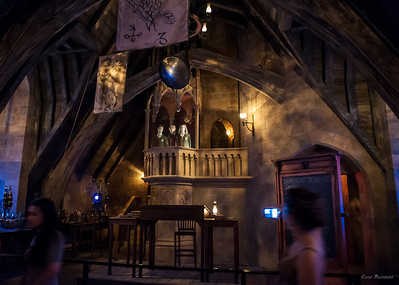 кабинет защиты от темных сил. Вверху голограммы главных героев