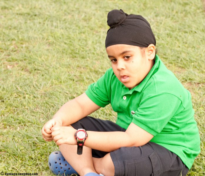 Anurag's son, Achal in deep thought