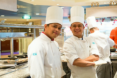 Chef Jun Jun Almario (left)