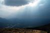 the sun seeping thru in Denali