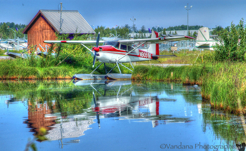 Lake Hood  and the Alaskan personal plane- almost every other alaskan owns his own plane. And it's not a luxury, but a necessity