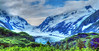alaska glacier - from the train