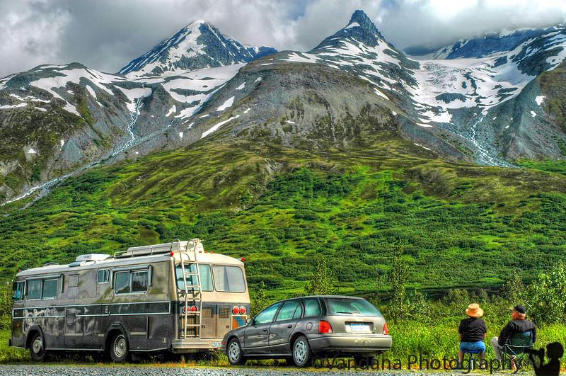 the ultimate Alaskan tourist, older, RV..