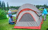 Upon our arrival in Fairbanks, we hunt high and low for the Riverside RV Park and Campground. When we finally pitch a tent at the designated site, its around 10pm!<br /> Fairbanks being quite near the pole doesn't get dark until midnight in Aug.