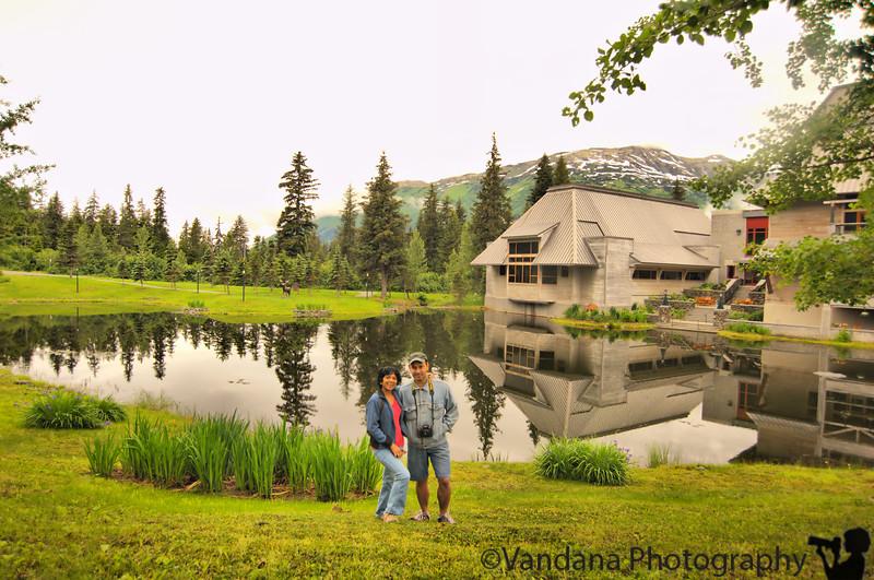 V & K at the lake