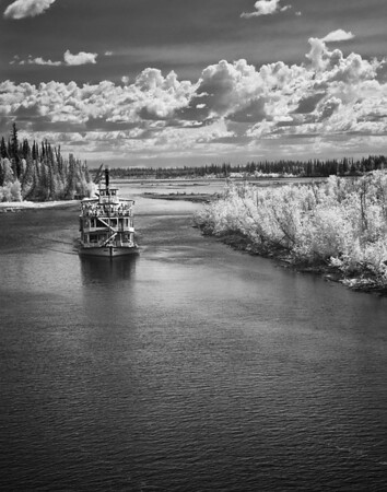 Discovery steamboat cruising the Chena River