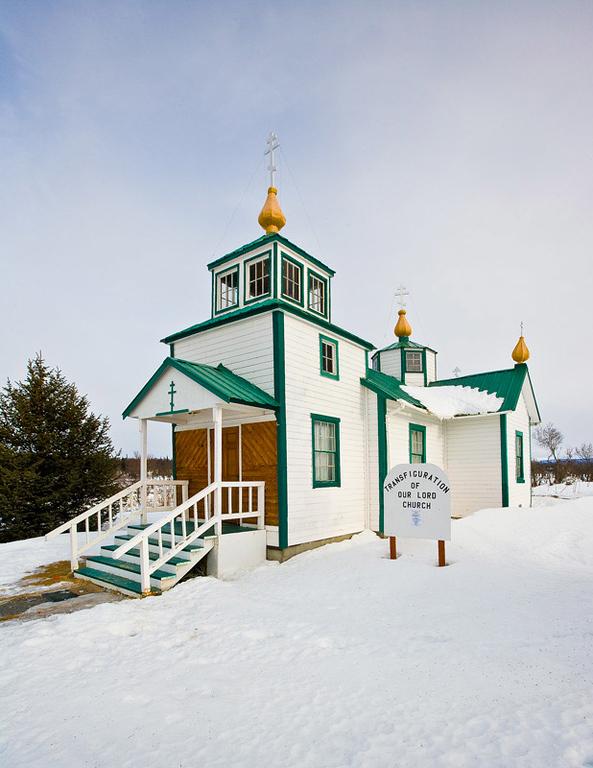 Russian Ortodox Church at Ninilchik, Alaska.