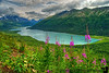 Finally we are rewarded with this incredible view of Eklutna Lake from the top of Twin Peaks. Alaska