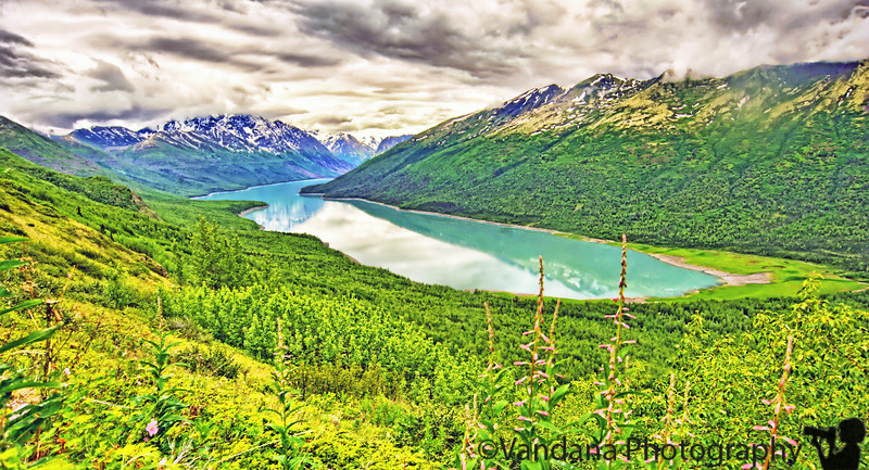 A view of Eklutna from the very top of the Twin Peaks trail.