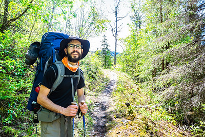 Hiking on Russian Lakes Trails to Aspen Flats Cabin