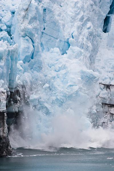 Margerie Glacier, calving sequence