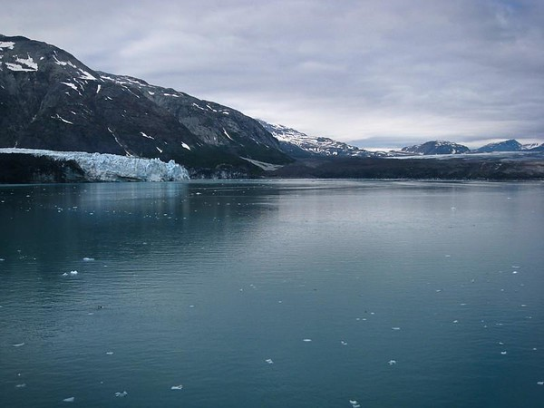 Glacier Bay National Park; Margerie Glacier on the left, Grand Pacific Glacier on the right.
