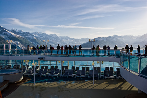 Up on deck to view College Fjords