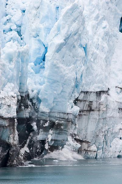 Margerie Glacier, about to calve