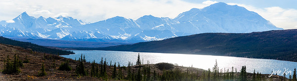 View of Denali and Alaska Range from Wonder Lake