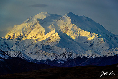 Peak of Denali in the morning light