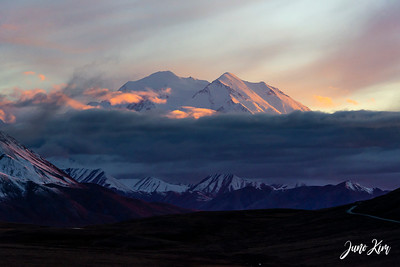 Denali at sunset