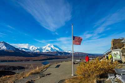 View of Denali and Alaska Range from Eielson Visitor Center