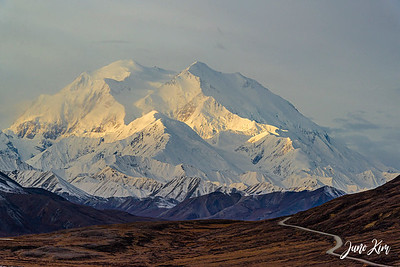 Denali at sunrise (at Stony Overlook Pass)
