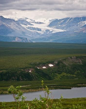 Gulkana Glacier as viewed from Denali Highway